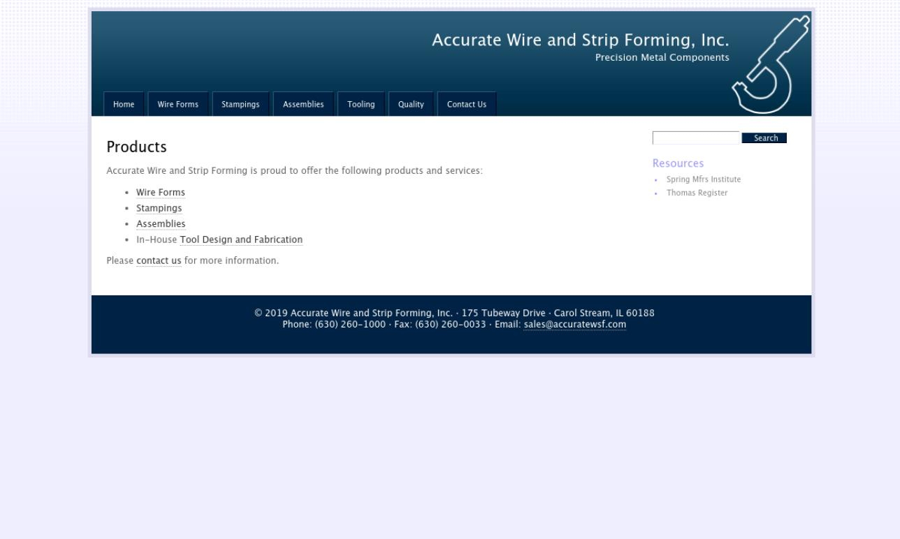 Accurate Wire and Strip Forming, Inc.