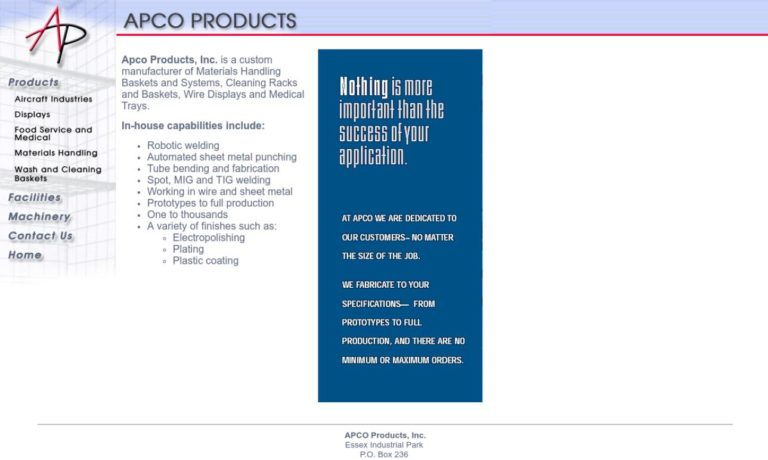 Apco Products, Inc.