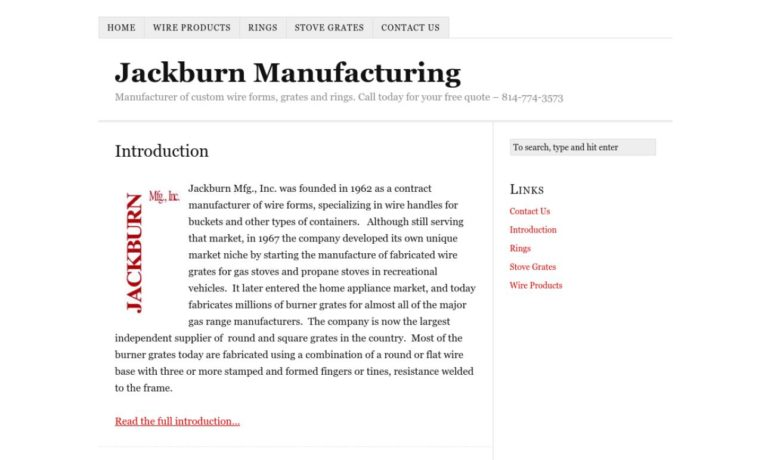 Jackburn Mfg., Inc.