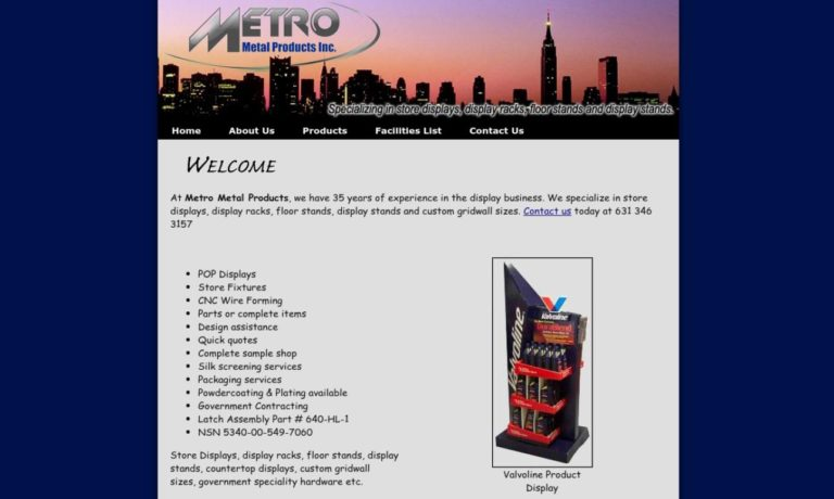 Metro Metal Products Inc.