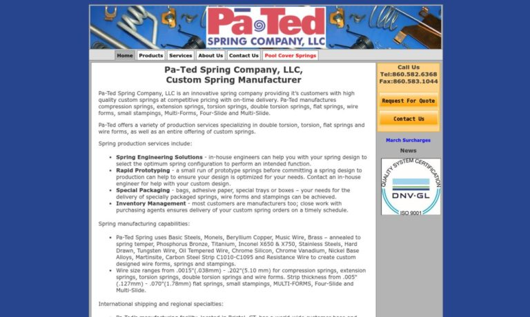 Pa-Ted Spring Co., LLC