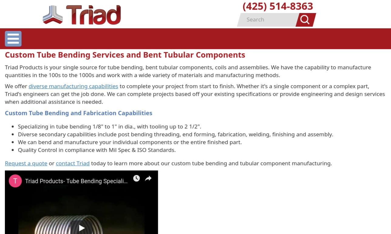 Triad Products Corporation