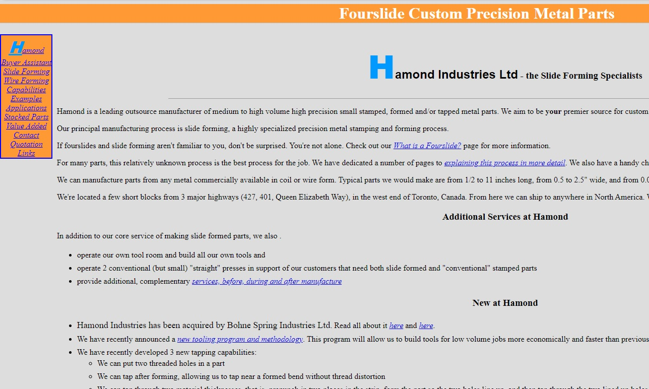 Hamond Industries, Ltd.